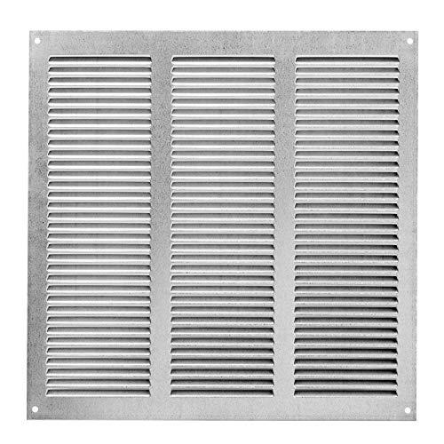 Haeusler-Shop - Rejilla de ventilación galvanizada (300 x 300 mm, con protección contra insectos, metal)