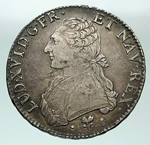 1787 FR 1787 L FRANCE King LOUIS XVI Large AR Antique OLD coin Good Uncertified
