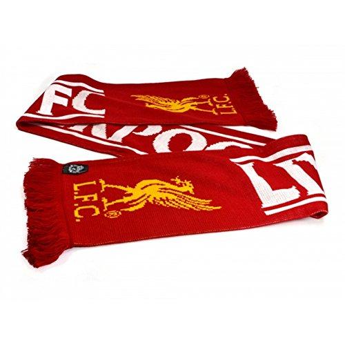 Liverpool FC - Bufanda con flecos (Talla Única) (Rojo/Blanco/Amarillo)
