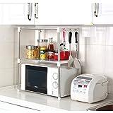 Xiton de cuisine en acier inoxydable étagère de stockage de four à micro-ondes étagère Rack 30,5 cm D X 89,9 cm L x 61,5 cm H