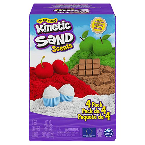 Kinetic Sand Scents, 32oz 4-Pack of Cherry, Apple, Chocolate and Vanilla Scented