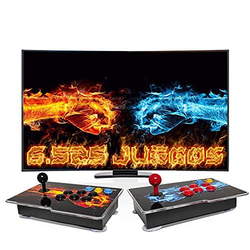 Pandora Box 3D, Joysticks independientes, Retro Consola, Maquina recreativa Arcade, Joystick Arcade, Versiones Originales 6525 Juegos Retro, Incluye Juegos 2D y 3D. Función de Guardar Partida