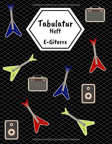 Tabulatur Heft E-Gitarre: Guitar Tab Block mit leeren Tabulaturlinien und Akkorddiagrammen   108 Seiten inkl. Inhaltsverzeichnis   Geschenkidee für Gitarristen
