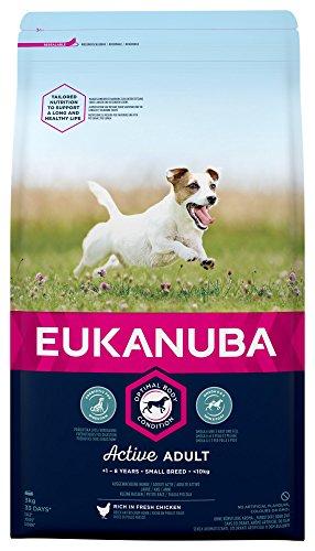 Eukanuba Adult Trockenfutter für kleine Hunde mit frischem Huhn, 3kg