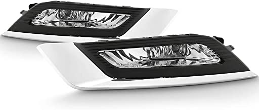 ACANII - For 2017-2018 Ford Fusion Bumper Fog Lights Driving Lamps w/Bulb & Swithch Assembly Driver & Passenger Side