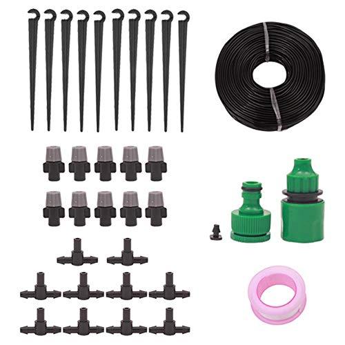 Starnear Micro Drip Irrigatie Systeem Automatische Sprinkler Watering Kit Plant Watering Druppelsysteem voor Gardena Landschap, Bloembed Patio, Kas, Planten 15m