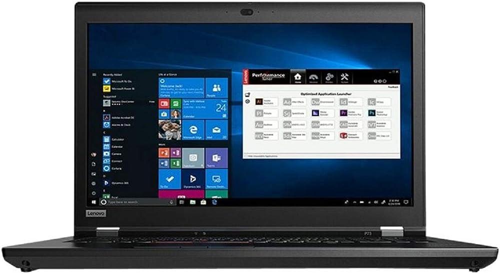 Lenovo thinkpad p73 i7-9850h 1tb m.2 ssd w10p64 nvidia quadrortx5000/16gb fpr cam 20QR002TGE