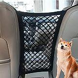 EUYuan Car Pet Barrier, 2 Pcs Universal Dog Net Car Seat Storage Mesh Organizer for Dog Kids Barrier Disturb Stopper Storage Pouch Black