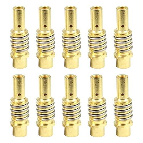 Leluo LRrui-Boquilla de Gas 5/10 PCS 15AK Boquillas, Caber para la Herramienta de Soldadura 15ak MIG SLIPDER, Contacto Consejos Solders Soldador, Estructura Simple (Power : 5pc)