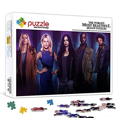 Rompecabezas para adultos 1000 piezas Jessica Jones Jigsaw toy decoración de la pared del hogar regalo 75x50cm juego de rompecabezas para adultos 1000