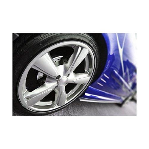 Wheel Bands Rim Protector - Silver W/ Black Track