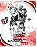 Vikings Coloring book: Ragnar Lodbrok ,Floki , lagertha , Rollo , björn ironside, Best and funny for adults and Kids (5.8x11)