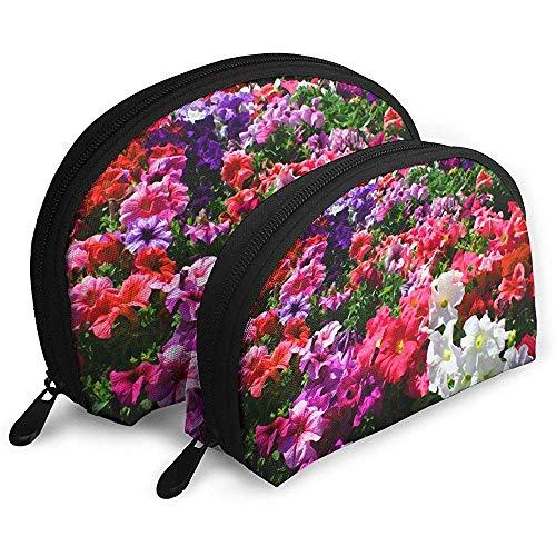 Mirando Las Flores fragantes y Coloridas Bolsas portátiles Bolsa de Maquillaje Bolsa de Aseo Bolsas de Viaje portátiles multifunción con Cremallera