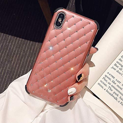 HUAI Carcasa para iPhone XR XS Max XS 7 8 6 6S Plus con purpurina brillante y cubierta trasera de silicona suave a prueba de golpes (color: T4, material: para iPhone XS)
