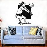 wZUN Voleibol niña Jugador Receptor de Pelota Arte de la Pared Voleibol Deportes hogar y cancha de Voleibol decoración extraíble 68X88cm
