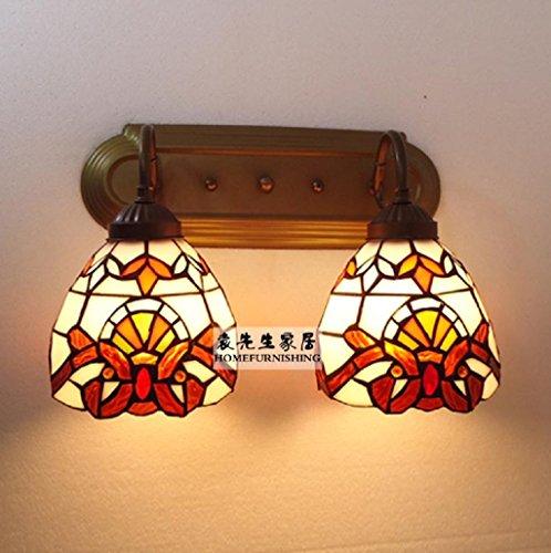 Lampes de style méditerranéen lampe de mur de la salle de l'éclairage intérieur Double fer à repasser miroir balcon étude de la chambre avant Tiffany