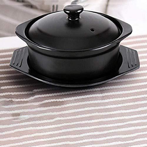 DUDDP Cacerola Ollas de cerámica para cocinar Horno holandés Terracota Stef Pot-Fast-Calefacción, Almacenamiento de Calor y Ahorro de energía (Size : 1L)