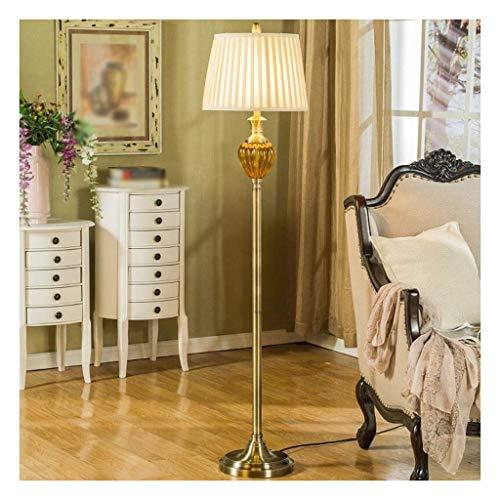 FYHH-JZHY -Standing Light Retro LED Floor Lamp Living Room Sofa Reading Lamp Bedroom Bedside European Vertical Creative Floor Lamp Piano Lamp Living Room (Color : Foot switch)
