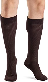 SIGVARIS Men's Casual Cotton 186 Calf High Compression Socks 15-20mmHg