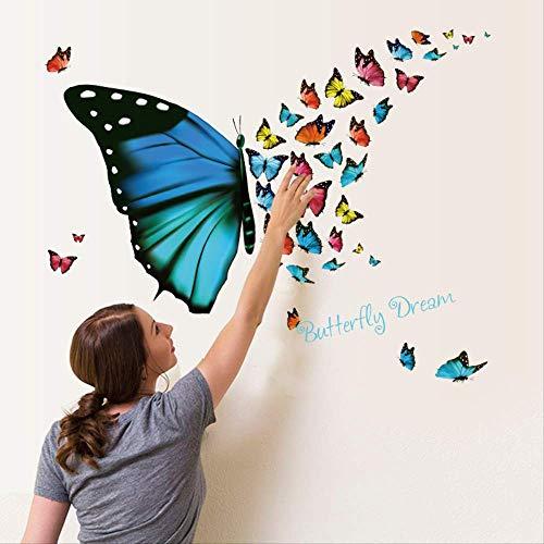 Mooie Flying Butterfly Stickers Woonkamer Veranda Raam Glas Vriezer Decoratie met