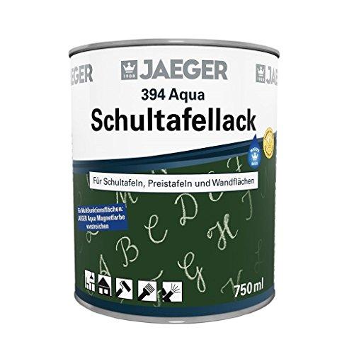 Jaeger AQUA Schultafellack Tischtennisplattenlack, wetterfest (750 ml, mattschwarz)