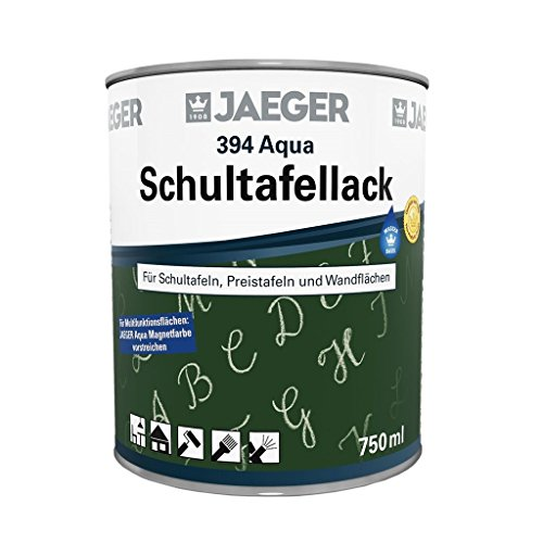Jaeger AQUA Schultafellack Tischtennisplattenlack, wetterfest (750 ml, mattgrün)
