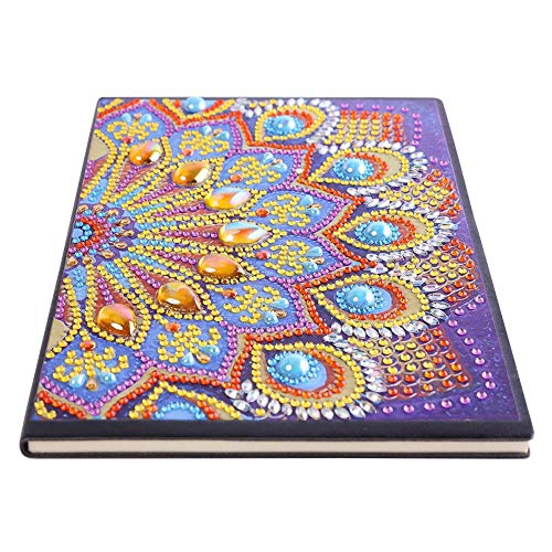 Chijon Notebook DIY 5D Diamant Malerei Notizbuch A5 Diamond Painting Notizblöcke 50 Seiten Notizbuch mit festem Einband für Mädchen Kinder Strass Geschenk für Weihnachten Geburtstag(9)