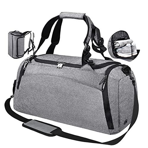 NEWHEY Bolsa Deporte Bolsa Gimnasio de Viaje Impermeable Bolsos Deportivos Fin de Semana Travel Duffle Bag para Hombre y...