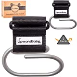 Baby Stroller Hooks Accessories   UpwardBaby 2 Pack Universal Large Heavy Duty Metal Clip for Purses Grocery Shopping Diaper Bags Backpacks   Perfect Wheelchairs Accessory   See Video Demonstration