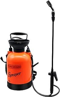 Flesser Pump Pressure Sprayer 1.1-Gallon Pressure Sprayer with Shoulder Strap for Herbicides,Fertilizers,Mild Cleaning Solutions and Bleach (1.1 Gallon, Orange)