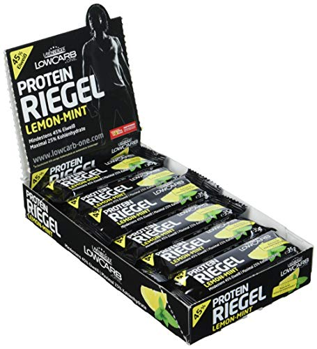 Layenberger LowCarb.one Protein-Riegel Lemon-Mint, 1er Pack (18 x 35 g)