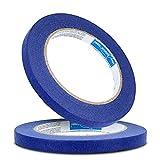 Blue Dolphin™ Profi Malerband 10 mm x 50 m Blau Kreppband Malerkrepp | Abdeckband Maler Klebeband...