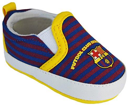 Baloncesto Zapatos Barca–Colección oficial FC Barcelona–Talla bebé niño, Azul (azul), 0 / 6 mois