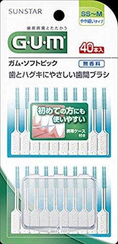 【サンスター】【GUM】ガム・ソフトピック40P無香料[SS〜M]【40ホン】×60点セット (4901616215641)