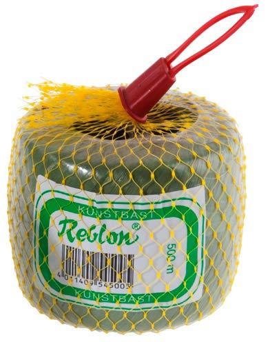 Novatool Rafia artificial, 5 mm, 400 m, color verde, cuerda de jardín, cinta de rafia, para atar plantas