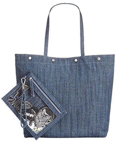 steve madden - Bolsa de vaquero Mujer, color Azul, talla talla única