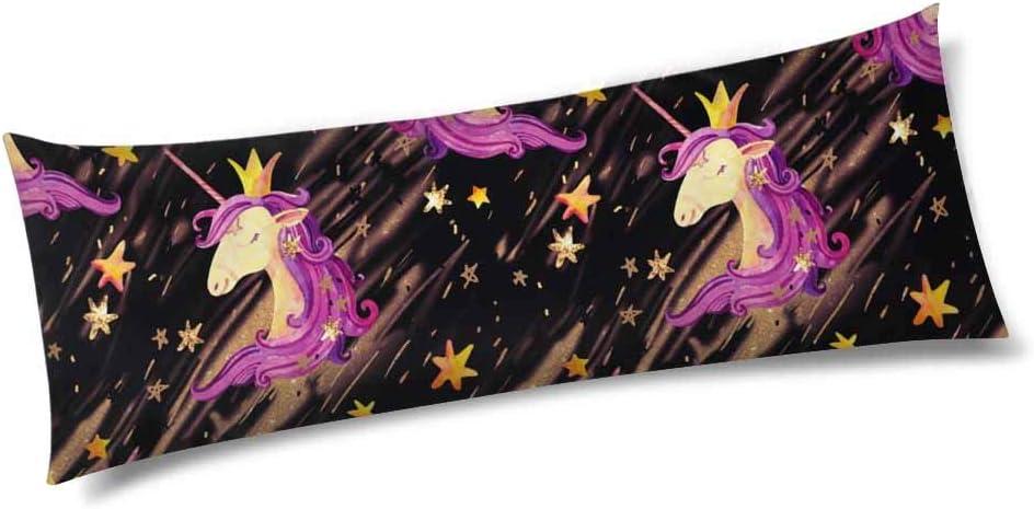 InterestPrint Cute Unicorn Shine Stars 5 ☆ very popular Flash Long Bo Kansas City Mall Sparkles