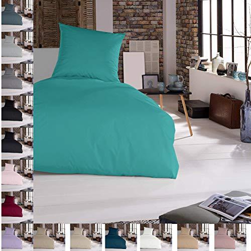 Turkis - Juego de cama (2 piezas, 155 x 220 cm, 100% algodón)