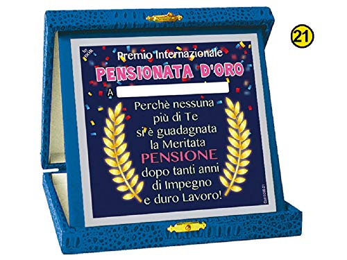 Targa Premium Pensional D'ORO Gadget cadeau-idee voor feesten