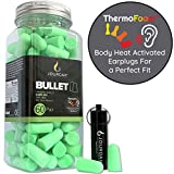 Ear Plugs for Sleeping Block Out Snoring, Premium Thermo Foam Noise Reduction and Cancelling...