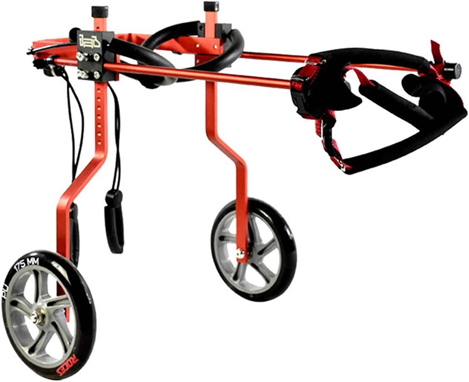 HIMA PETTR Dog Wheelchair, Adjustable, Veterinarian Approved, Hind Legs Rehabilitation Aid for Aging,Red,XXXL