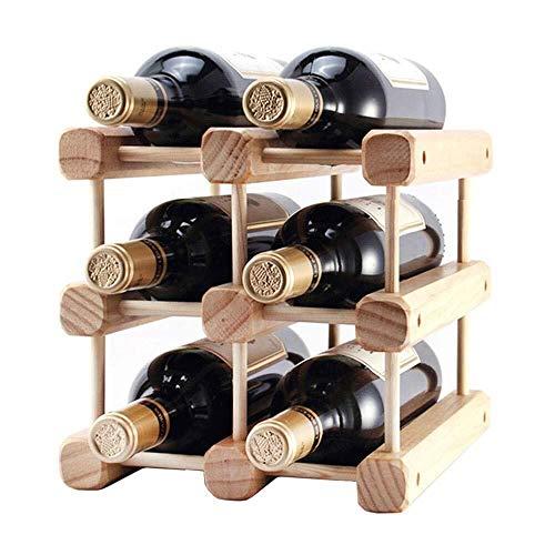 BLWX-Wine RACK LY- Weinregale Weinregal Weinregal aus Holz Kleine Aufsatz- Design-Stores Comfortably 6 Flaschen Tabletop Weinlagerhalter Stände Ständer (Größe : Small)
