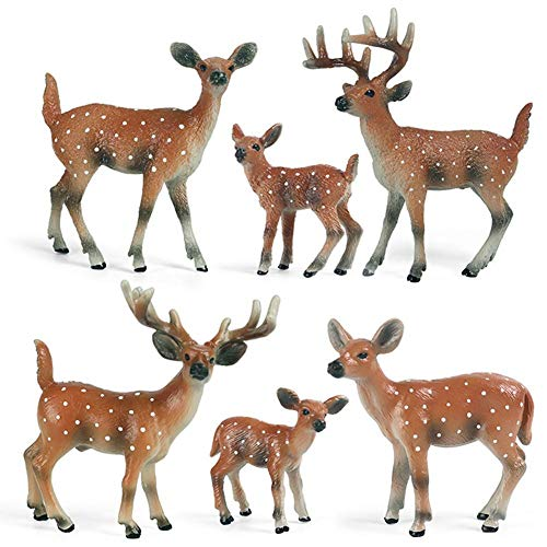 Xianshiyan Kinder Simulation Wildtier Hirsch Modell Spielzeug solide Sika Hirsch