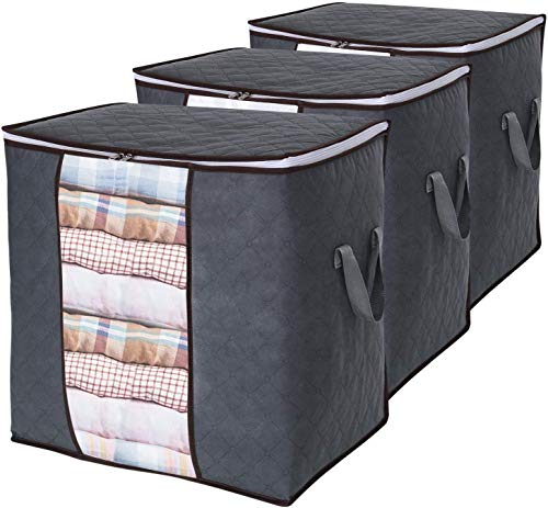Lifewit Clothes Storage Bag 90L Large Capacity Organizer with Reinforced Handle Thick Fabric for...