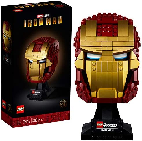 LEGO Marvel Avengers Iron Man Helmet 76165 Brick Iron Man Mask for Adults to Build and Display product image