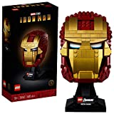 LEGO Marvel Avengers Iron Man Helmet 76165; Brick Iron Man Mask for Adults to Build and Display, Creative Challenge for Marvel Fans (480 Pieces)