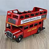 WANDOM Modelo de Coche Creativo Retro nostálgico Estudio decoración Adornos Bus Bus Adornos-Bus turístico