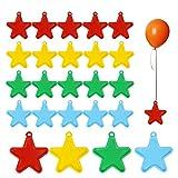 ZERHOK Peso Globos de Helio 24pcs Pesas para Globos Forma de Estrella Colgantes de Peso de Globo Accesorios Fijos para Globos para Hawaiana Fiestas de Cumpleaños Bodas Playa Verano(7g/pcs)