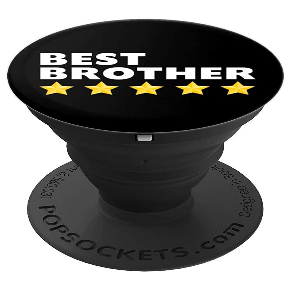 Best Brother 5 Star Gifts From Sister Brother For Men Boys - PopSockets Grip and Stand for Phones and Tablets
