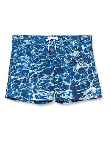 TOM TAILOR Herren Sommerdruck Badehose, Blau ( 21875 - blue water design ) , M